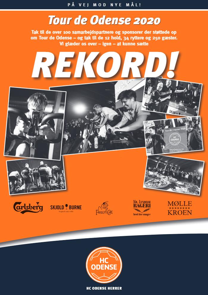 Tour de Odense 2020 plakat med sponsorer